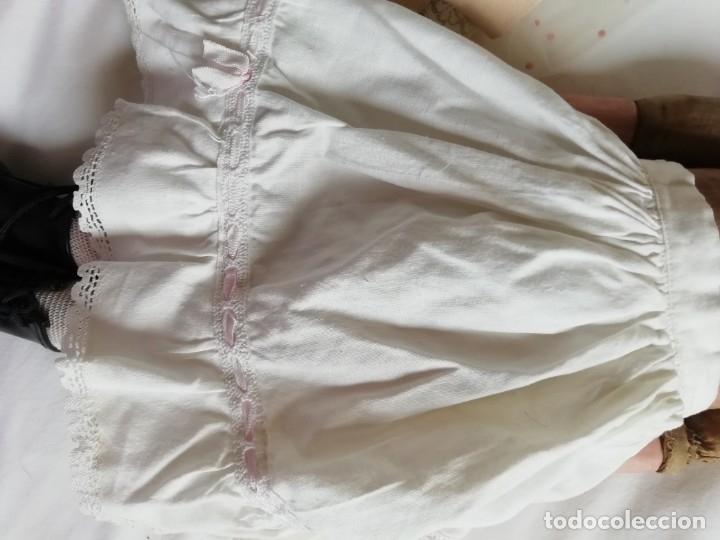 Muñecas Porcelana: Muñeca Limoges 46 cm con reparacion en pectoral - Foto 9 - 177884033