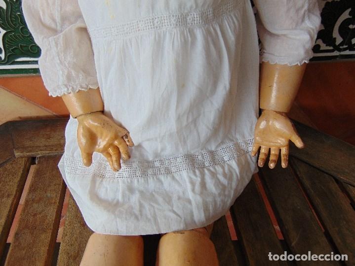 Muñecas Porcelana: MUÑECA CABEZA DE PORCELANA NIÑA ARTICULADA MARCADA Nº 13 EN CUERPO Nº 71 301 FRANCE EN CABEZA - Foto 4 - 179315510