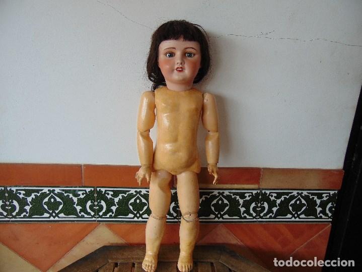 Muñecas Porcelana: MUÑECA CABEZA DE PORCELANA NIÑA ARTICULADA MARCADA Nº 13 EN CUERPO Nº 71 301 FRANCE EN CABEZA - Foto 6 - 179315510