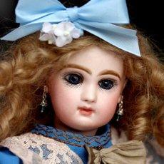 Muñecas Porcelana: PRECIOSA MUÑECA AUTOMATA FRANCESA JUMEAU LAMBERT 1880. Lote 180147745