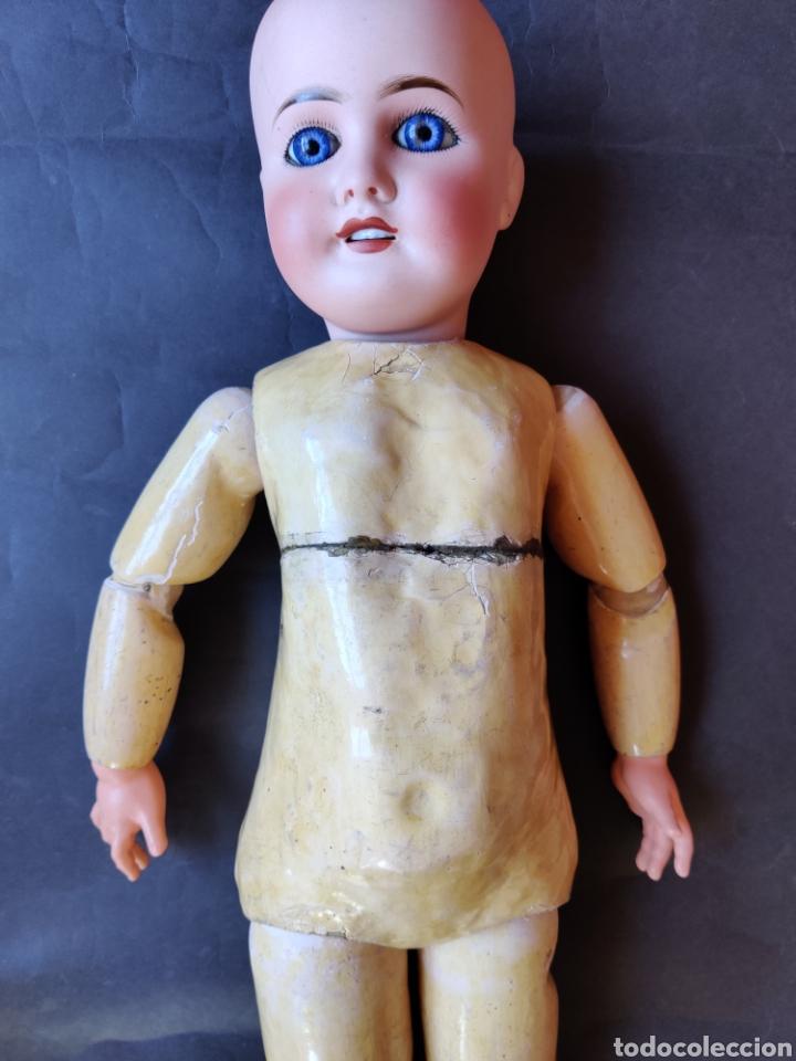 Muñecas Porcelana: Muñeca de porcelana antigua Limoges 10, 58 cm - Foto 23 - 180466250