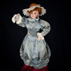 Muñecas Porcelana: GRAN MUÑECA AUTÓMATA-PORCELANA. SIGLO XIX. Lote 181616767