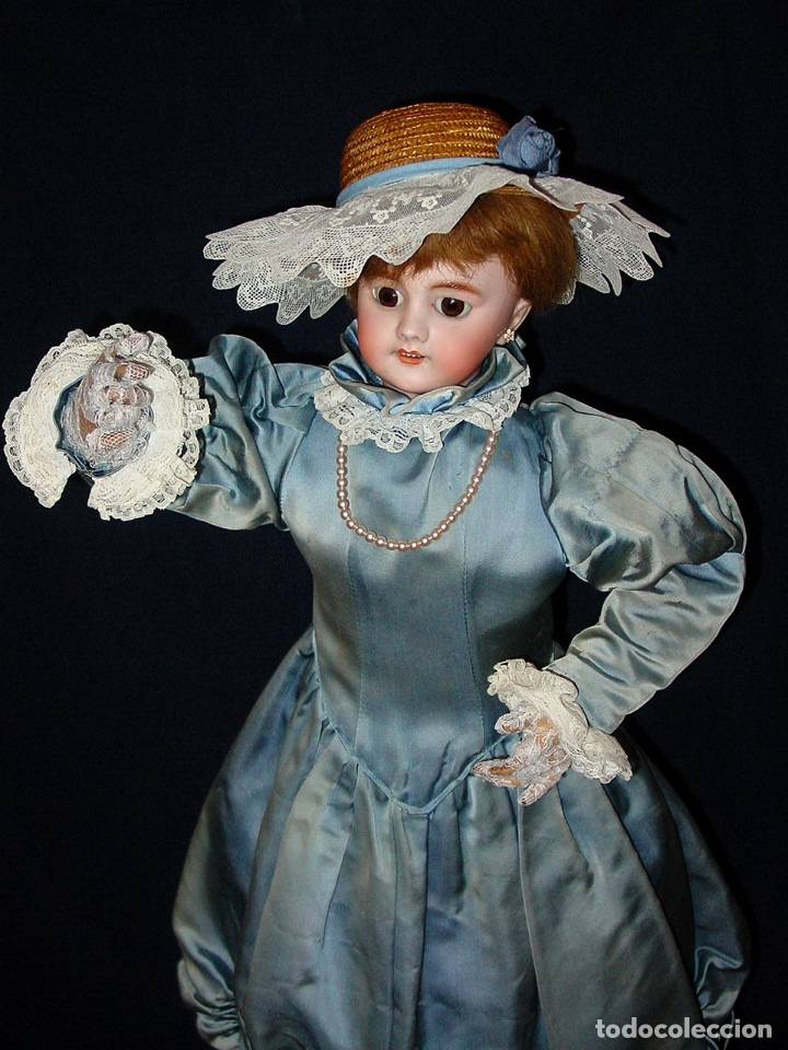 Muñecas Porcelana: GRAN MUÑECA AUTÓMATA-PORCELANA. SIGLO XIX - Foto 2 - 181616767