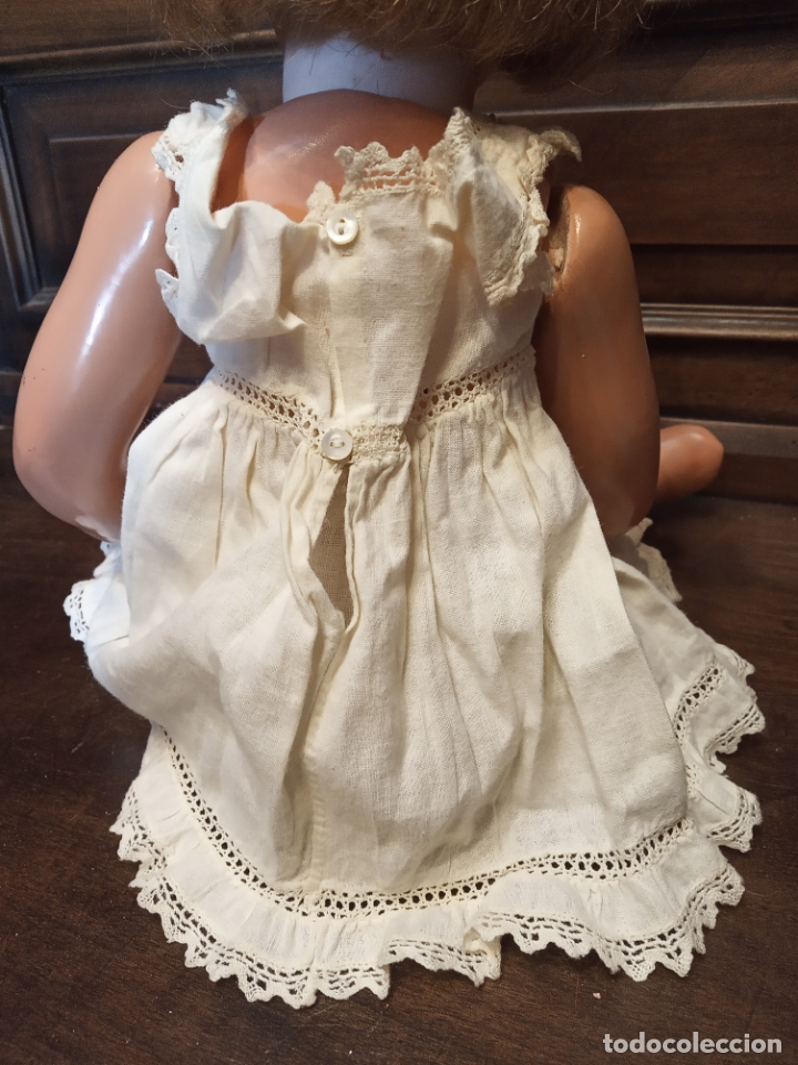 Muñecas Porcelana: Preciosa muñeca francesa de la casa Jumeau. Depose. E9J. Talla 9. Cuerpo de cartón. Ojos azules. - Foto 8 - 182715390