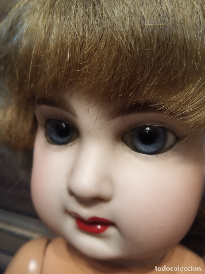 Muñecas Porcelana: Preciosa muñeca francesa de la casa Jumeau. Depose. E9J. Talla 9. Cuerpo de cartón. Ojos azules. - Foto 15 - 182715390