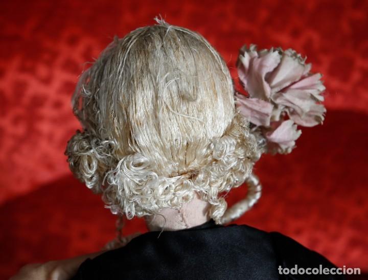 Muñecas Porcelana: Muñeca pouppe boudoir, de tocador o de cama, vestido de seda - Foto 6 - 182783841