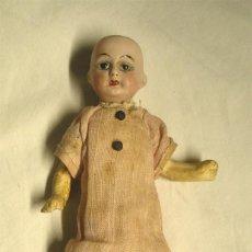 Muñecas Porcelana: MUÑECA CABEZA PORCELANA CUERPO COMPOSICIÓN CIRCA 1900. ALTURA 16 CM. Lote 183469401