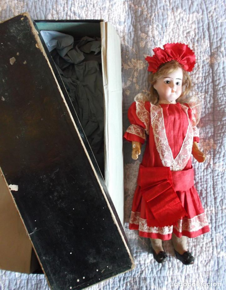 Muñecas Porcelana: Preciosa muñeca de porcelana francesa Damerval & Laffranchy boca cerrada toda de origen, en caja - Foto 3 - 183829453