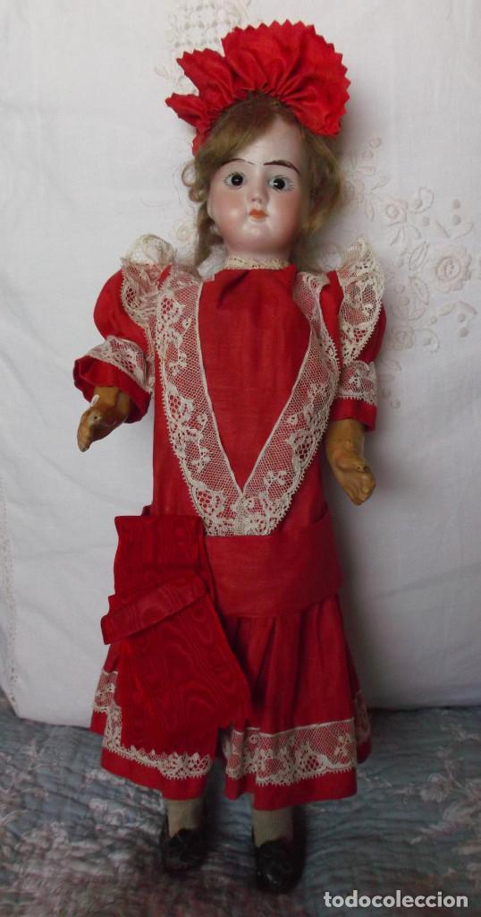 Muñecas Porcelana: Preciosa muñeca de porcelana francesa Damerval & Laffranchy boca cerrada toda de origen, en caja - Foto 4 - 183829453
