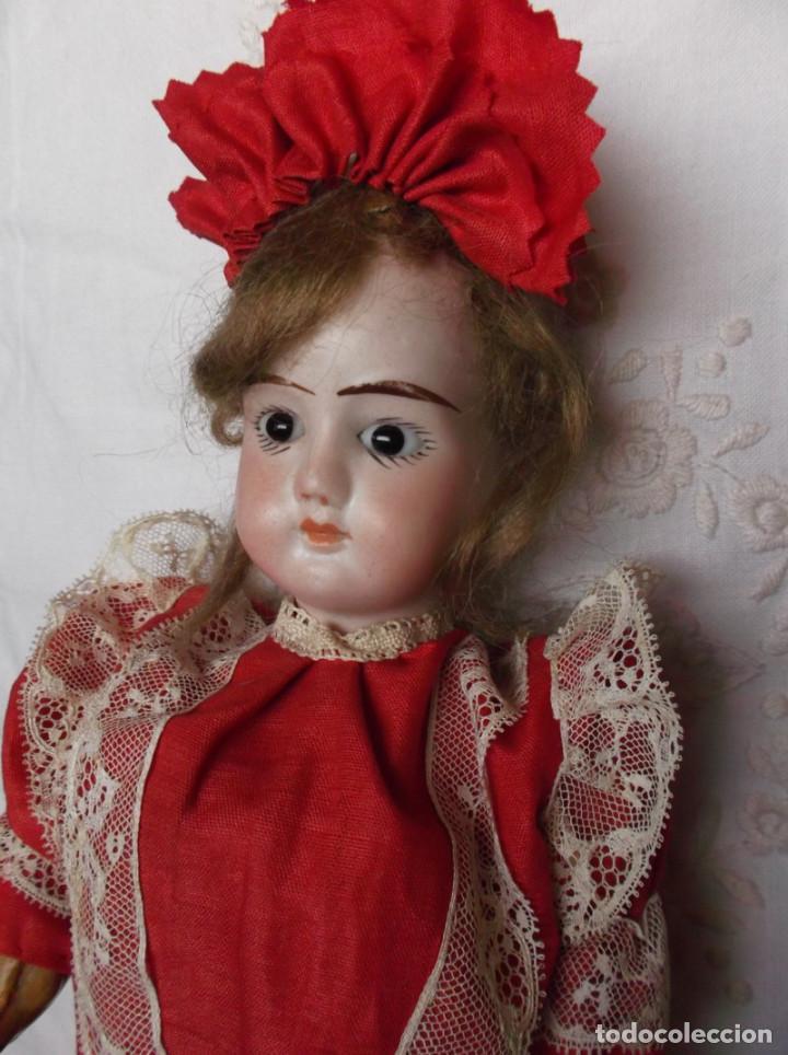 Muñecas Porcelana: Preciosa muñeca de porcelana francesa Damerval & Laffranchy boca cerrada toda de origen, en caja - Foto 6 - 183829453