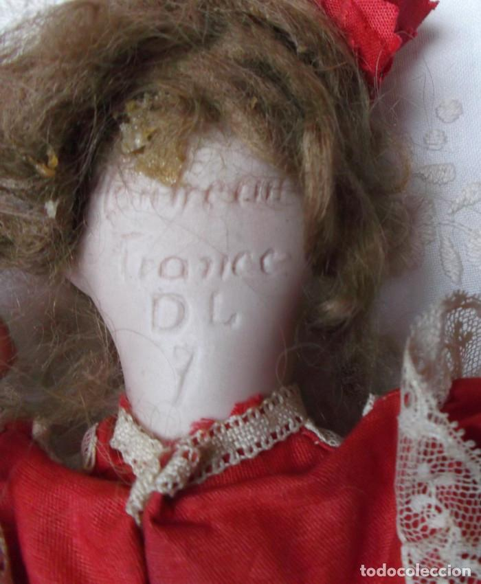 Muñecas Porcelana: Preciosa muñeca de porcelana francesa Damerval & Laffranchy boca cerrada toda de origen, en caja - Foto 7 - 183829453