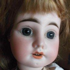 Muñecas Porcelana: ADORABLE MUÑECA DE PORCELANA FRANCESA FLEISCHMANN 50 CM PRECIOSOS OJOS . Lote 184278140