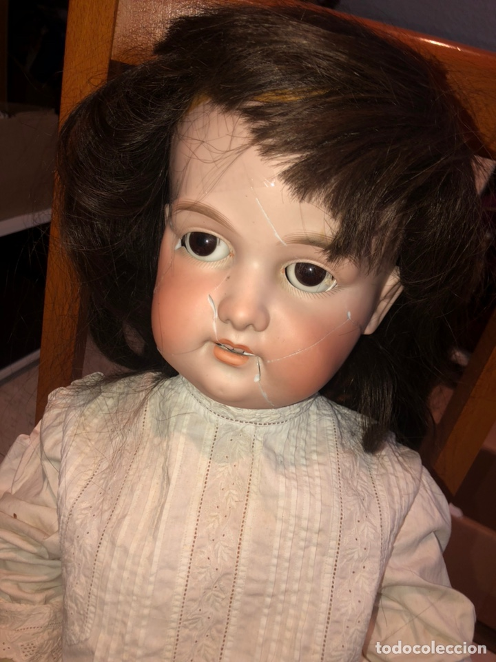 Muñecas Porcelana: Antigua muñeca porcelana carton piedra y madera)siglo XIX tamaño grande 85cm-marcada - ver las fotos - Foto 7 - 186463103