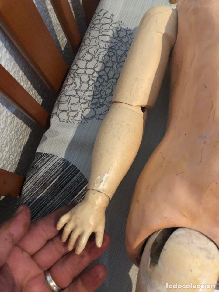 Muñecas Porcelana: Antigua muñeca porcelana carton piedra y madera)siglo XIX tamaño grande 85cm-marcada - ver las fotos - Foto 10 - 186463103