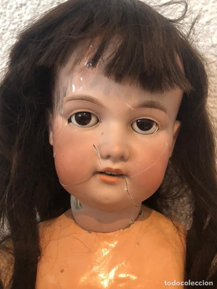 Muñecas Porcelana: Antigua muñeca porcelana carton piedra y madera)siglo XIX tamaño grande 85cm-marcada - ver las fotos - Foto 14 - 186463103