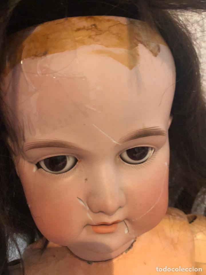 Muñecas Porcelana: Antigua muñeca porcelana carton piedra y madera)siglo XIX tamaño grande 85cm-marcada - ver las fotos - Foto 16 - 186463103