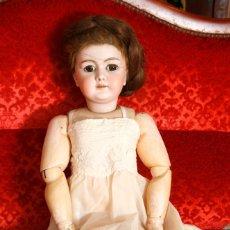 Poupées Porcelaine: MUÑECA DE GRAN TAMAÑO, 88 CM DE ALTURA, CARA DE PORCELANA, MARCADO EN LA NUCA 15, CUERDA PARA LLORON. Lote 189367453