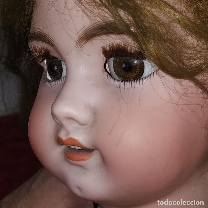 Muñecas Porcelana: MUÑECA DEP 12. (JUMEAU?). CABEZA BISCUIT. PELO ORIGINAL. OJOS MÓVILES. FRANCIA. XIX - Foto 4 - 189623837
