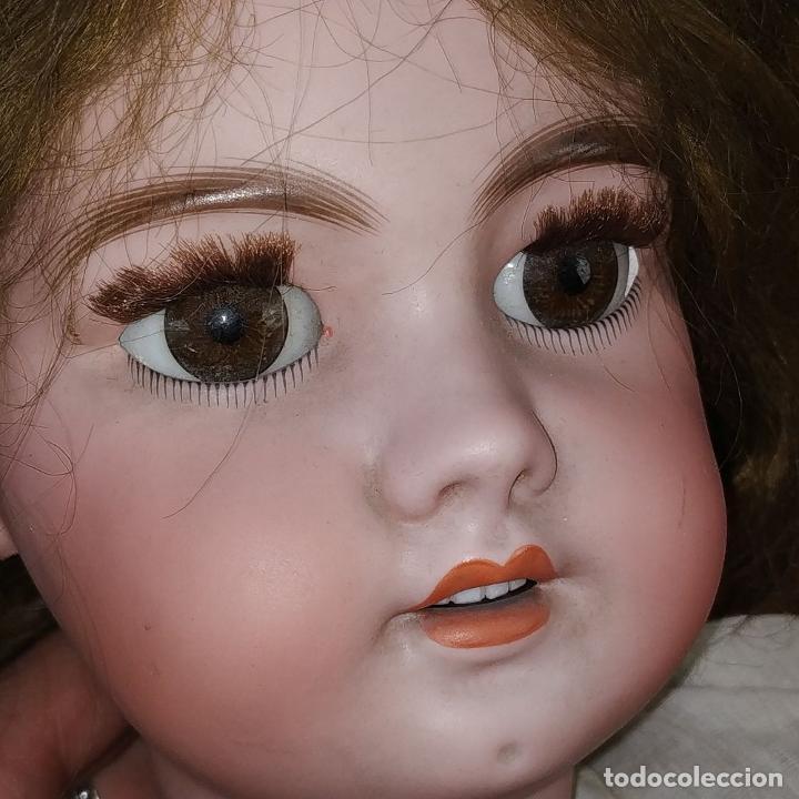Muñecas Porcelana: MUÑECA DEP 12. (JUMEAU?). CABEZA BISCUIT. PELO ORIGINAL. OJOS MÓVILES. FRANCIA. XIX - Foto 5 - 189623837