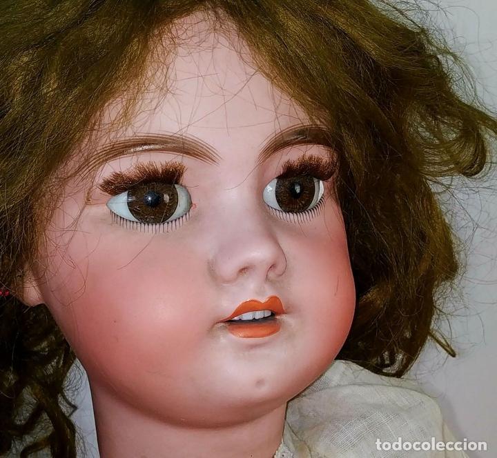 Muñecas Porcelana: MUÑECA DEP 12. (JUMEAU?). CABEZA BISCUIT. PELO ORIGINAL. OJOS MÓVILES. FRANCIA. XIX - Foto 6 - 189623837