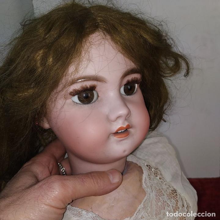 Muñecas Porcelana: MUÑECA DEP 12. (JUMEAU?). CABEZA BISCUIT. PELO ORIGINAL. OJOS MÓVILES. FRANCIA. XIX - Foto 7 - 189623837