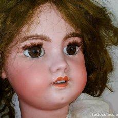Muñecas Porcelana: MUÑECA DEP 12. (JUMEAU?). CABEZA BISCUIT. PELO ORIGINAL. OJOS MÓVILES. FRANCIA. XIX. Lote 189623837