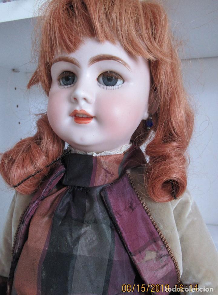 Muñecas Porcelana: Muñecas antigua. DEP JUMEAU. 54Cm. Toda de origen. - Foto 3 - 190071307