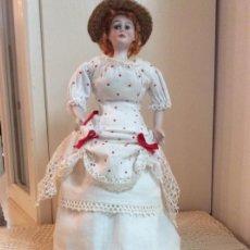 Muñecas Porcelana: MUÑECA DE MODA DE PORCELANA FRANCESA. AÑOS 20 . 30 CM.. Lote 191267056