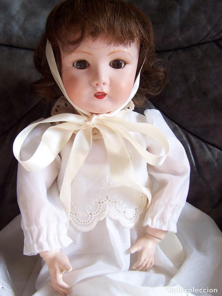Muñecas Porcelana: Muñeca coleccionismo de UNIS France con marca en el interior de la cabeza, en negativo - Foto 2 - 191526667