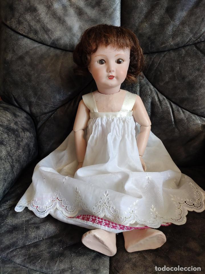 Muñecas Porcelana: Muñeca coleccionismo de UNIS France con marca en el interior de la cabeza, en negativo - Foto 3 - 191526667