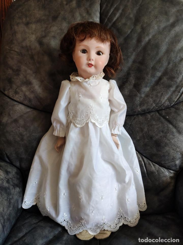 Muñecas Porcelana: Muñeca coleccionismo de UNIS France con marca en el interior de la cabeza, en negativo - Foto 4 - 191526667