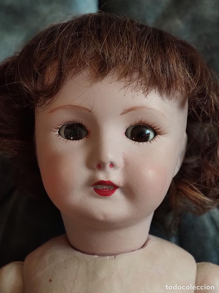 Muñecas Porcelana: Muñeca coleccionismo de UNIS France con marca en el interior de la cabeza, en negativo - Foto 5 - 191526667