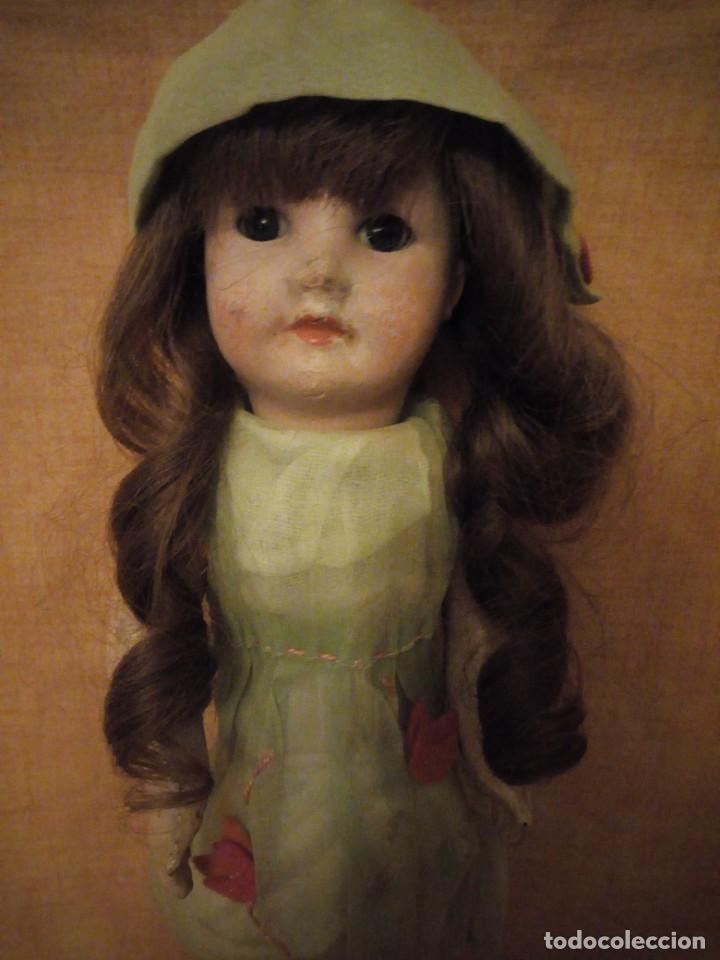 ANTIGUA MUÑECA BISCUIT, SFBJ PARIS,1910,PELO NATURAL,OJOS DE CRISTAL, (Juguetes - Muñeca Extranjera Antigua - Porcelana Francesa)