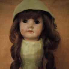 Muñecas Porcelana: ANTIGUA MUÑECA BISCUIT, SFBJ PARIS,1910,PELO NATURAL,OJOS DE CRISTAL,. Lote 191744767