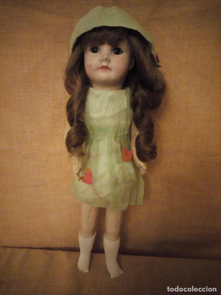 Muñecas Porcelana: Antigua Muñeca Biscuit, SFBJ paris,1910,pelo natural,ojos de cristal, - Foto 2 - 191744767