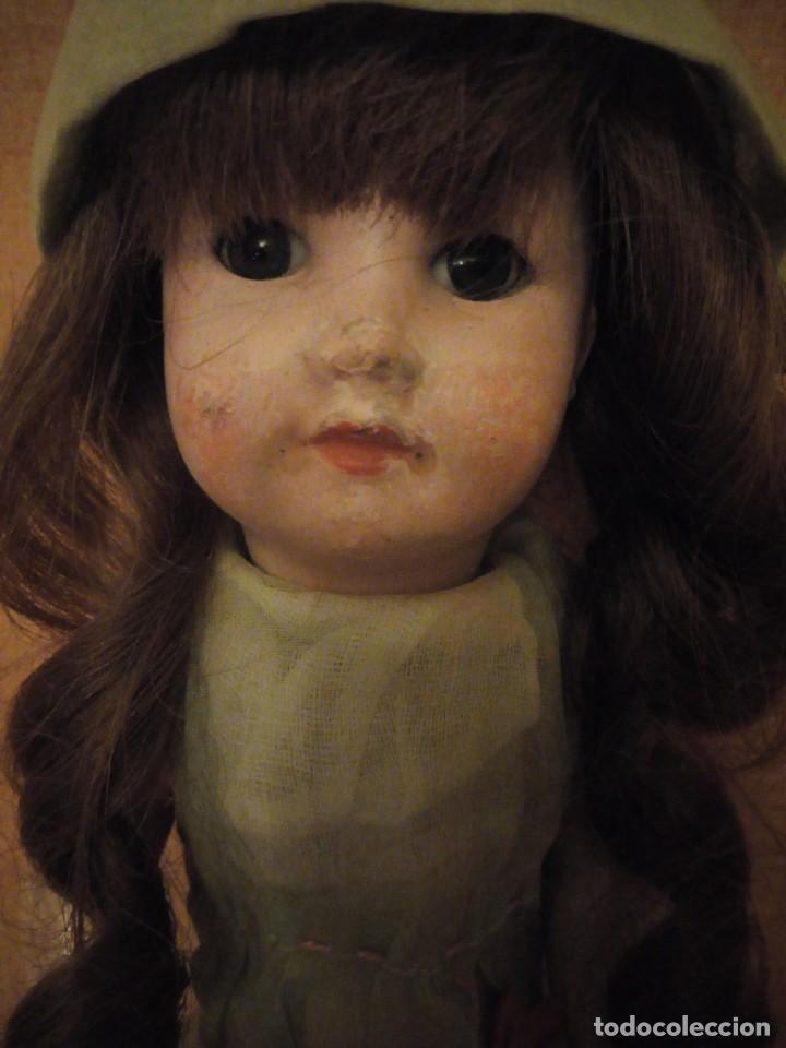 Muñecas Porcelana: Antigua Muñeca Biscuit, SFBJ paris,1910,pelo natural,ojos de cristal, - Foto 3 - 191744767
