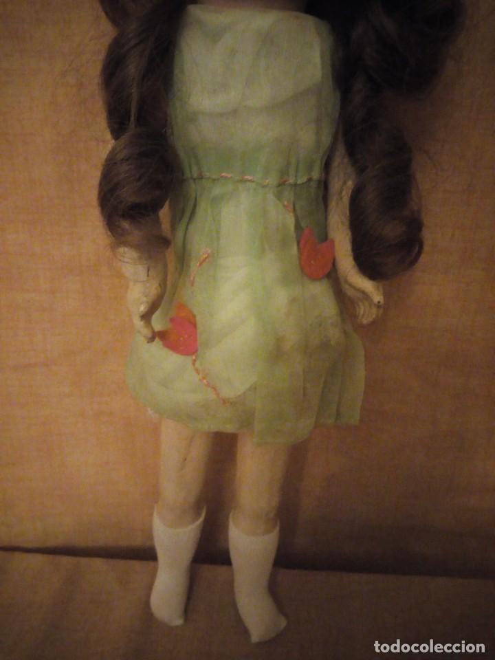 Muñecas Porcelana: Antigua Muñeca Biscuit, SFBJ paris,1910,pelo natural,ojos de cristal, - Foto 4 - 191744767