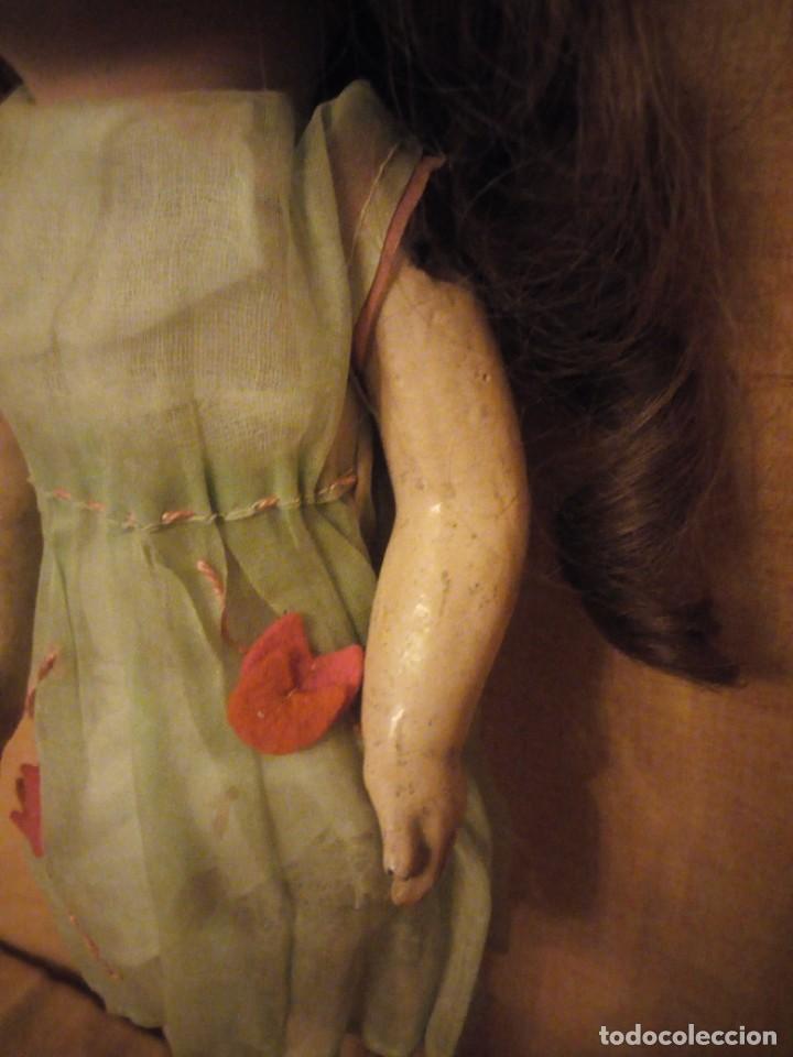Muñecas Porcelana: Antigua Muñeca Biscuit, SFBJ paris,1910,pelo natural,ojos de cristal, - Foto 5 - 191744767
