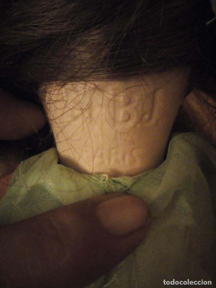 Muñecas Porcelana: Antigua Muñeca Biscuit, SFBJ paris,1910,pelo natural,ojos de cristal, - Foto 12 - 191744767