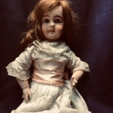 Muñecas Porcelana: MUÑECA PORCELANA CABEZA DEP MARCA CUERPO COMPOSICION VESTIDO ENCAJE 65CMS PPIO S XX . Lote 192819972