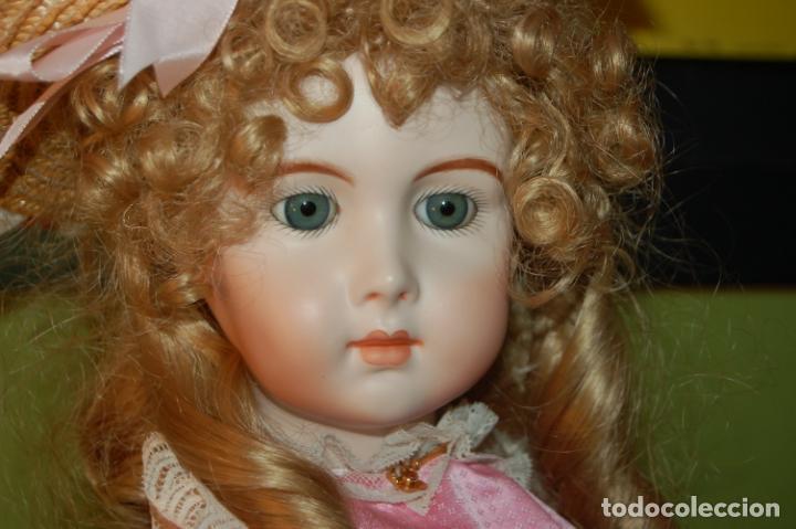 Muñecas Porcelana: jumeau triste de reproducción - Foto 2 - 194679025