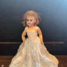 Muñecas Porcelana: ANTIGUA MUÑECA DE PORCELANA Y CUERPO COMPOSICIÓN DEP 6 MED.: 44 CMS. (G) . Lote 195456141