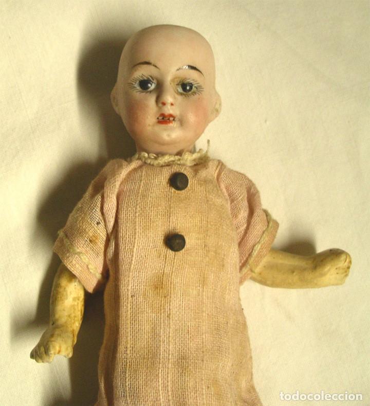Muñecas Porcelana: Muñeca Cabeza Biscuit Cuerpo composición Circa 1900. Altura 16 cm - Foto 2 - 198391127