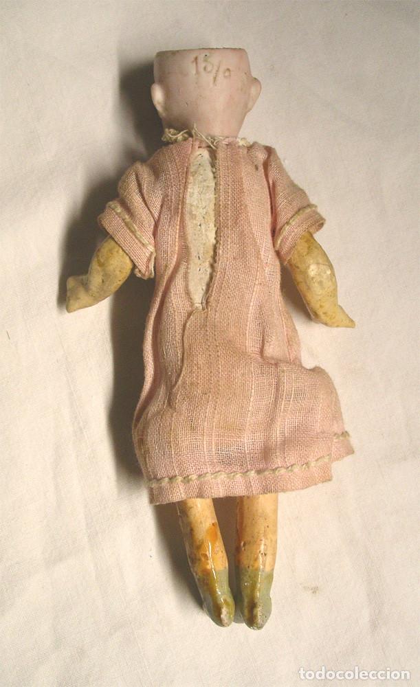 Muñecas Porcelana: Muñeca Cabeza Biscuit Cuerpo composición Circa 1900. Altura 16 cm - Foto 4 - 198391127