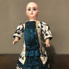 Muñecas Porcelana: VESTIDO TRAJE SEDA PARA MUÑECA ANTIGUA FRANCESA PORCELANA JUMEAU TAMAÑO Nº10 - POSIBILIDAD DE PLAZOS. Lote 206160325