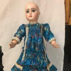 Muñecas Porcelana: VESTIDO TRAJE SEDA PARA MUÑECA ANTIGUA FRANCESA PORCELANA JUMEAU TAMAÑO Nº10 - POSIBILIDAD DE PLAZOS. Lote 206197030