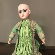 Muñecas Porcelana: VESTIDO TRAJE ANTIGUA TELA Y ENCAJE DE CALAIS BEBE JUMEAU BRU Nº10. Lote 206197798