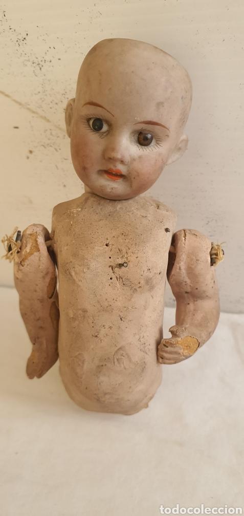 Muñecas Porcelana: RARISIMO MUÑECA CARTONPIEDRA Y CABEZA DE PORCELANA .MUY ANTIGUI - Foto 2 - 206427555