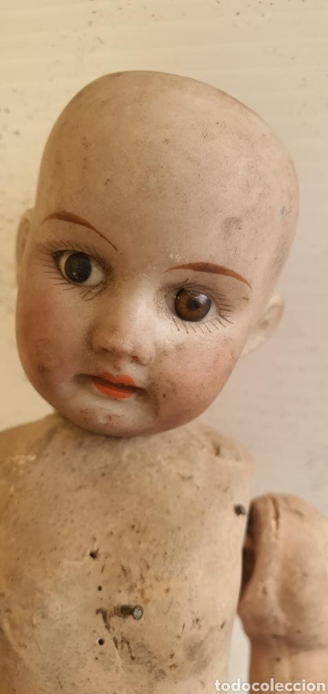 Muñecas Porcelana: RARISIMO MUÑECA CARTONPIEDRA Y CABEZA DE PORCELANA .MUY ANTIGUI - Foto 3 - 206427555