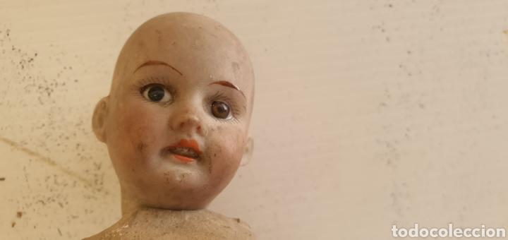 Muñecas Porcelana: RARISIMO MUÑECA CARTONPIEDRA Y CABEZA DE PORCELANA .MUY ANTIGUI - Foto 4 - 206427555